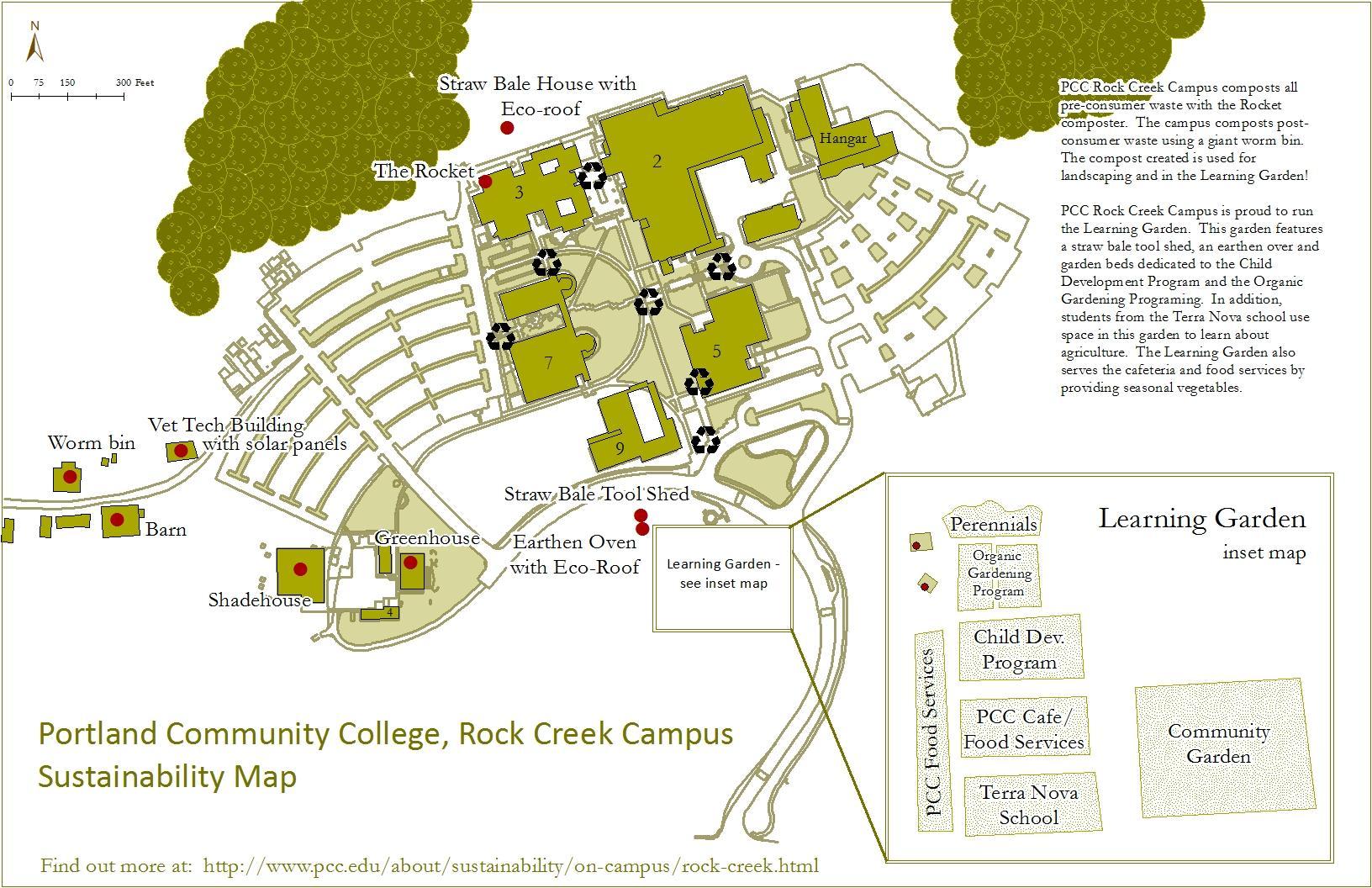 PCC rock creek Karte - Karte der PCC rock creek (Oregon - USA)