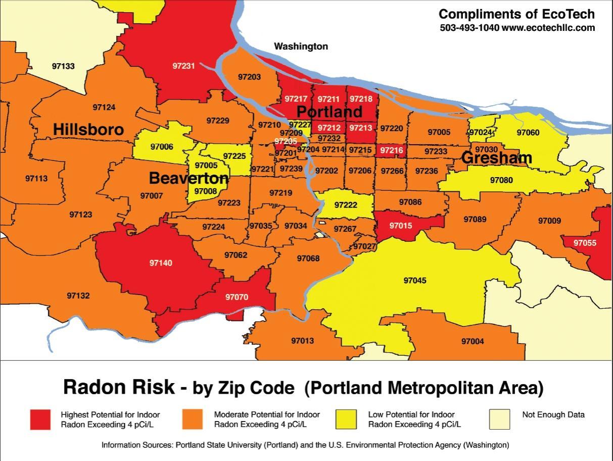 Portland-oder PLZ-Karte - Portland Oregon zip code map ...
