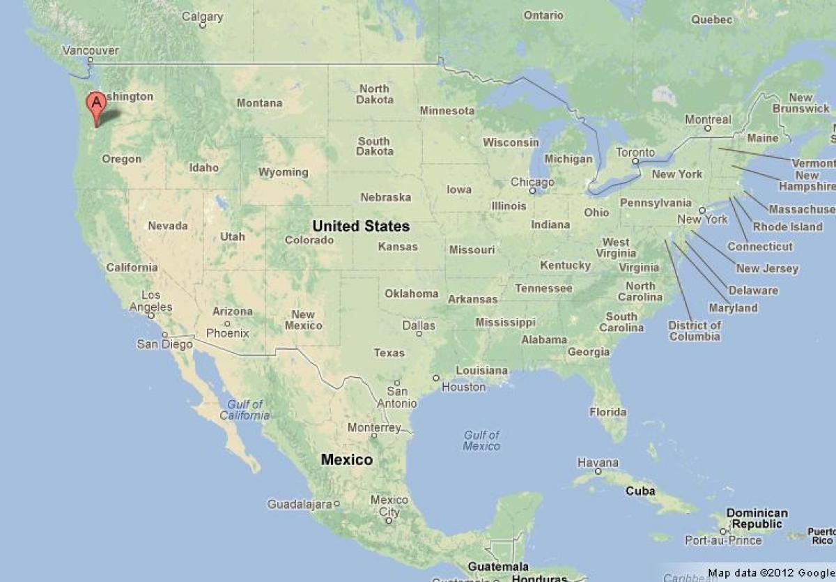 Portland-Karte USA - Portland, USA Karte (Oregon - USA)