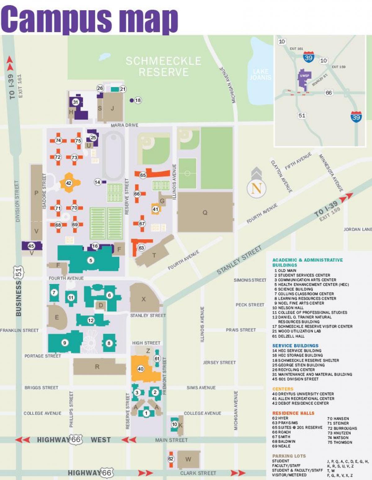 Portland state University Campus map - Karte von Portland ...