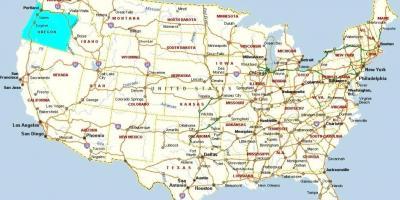 portland karte Portland Karte   Karten Portland (Oregon   USA)