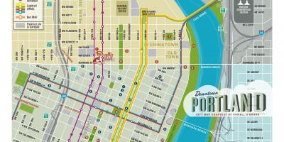 Portland sightseeing-map